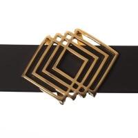 Metallperle Slider Geometrisch, vergoldet, ca. 31 x 23,5 mm