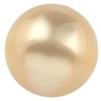 Polarisperle glänzend, rund, ca. 14 mm, hellgelb