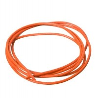 Lederband, 2 mm, Länge 1 m, orange