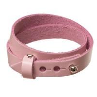 Lederarmband für Sliderperlen, Breite 10 mm, Länge 40 cm, rosa