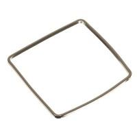 CM Metallanhänger Viereck, 20 x 20 mm, silberfarben