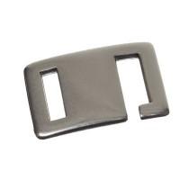 Hakenverschluss für breite Bänder bis 10 mm, versilbert