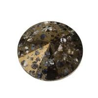 Swarovski Rivoli (1122), SS39  (ca. 8 mm), crystal gold patina