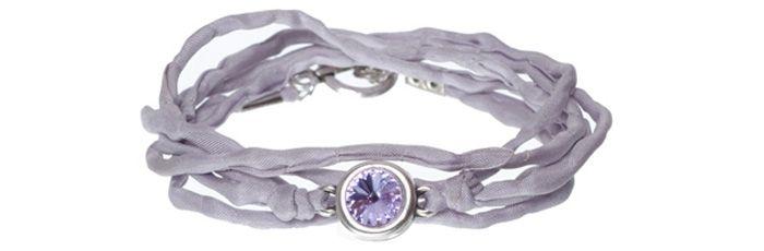 Seidenarmband Violet