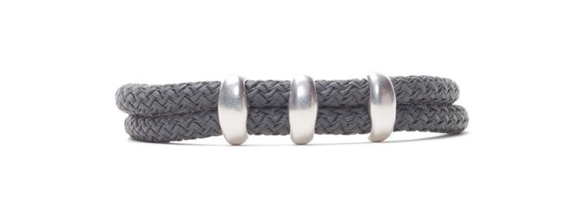Armband Neutral Gray mit Segelseil