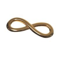 Metallanhänger / Armbandverbinder, Infinity, 30 x 11 mm, vergoldet