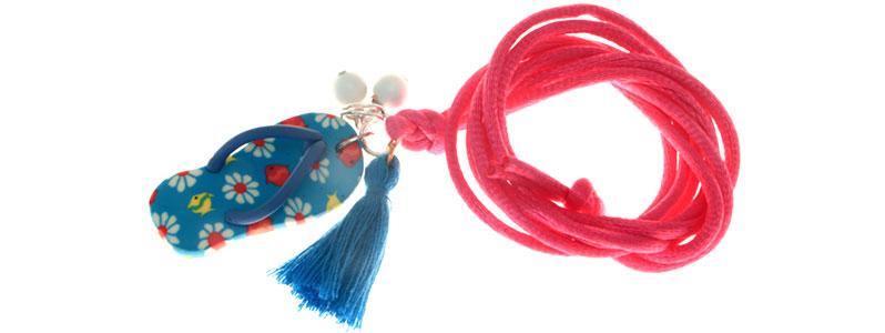 Sommerkette Flip Flop Blau