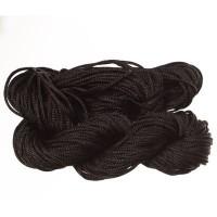 Makramee- und Schmuckband, Durchmesser 1 mm, 22 Meter-Paket, schwarz