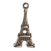 Metallanhänger Eiffelturm, 20 x 10 mm, versilbert