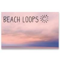 """Schmuckkarte """"Beach Loop - Himmel"""", quer, Größe 8,5 x 5,5 cm"""