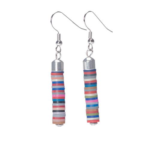 Ohrringe mit Katsuki Perlen Multicolor