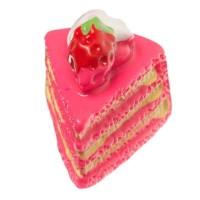Kunststofffigur für Glaskugeln Tortenstück, 16,5 x 14 x 14 mm, pink