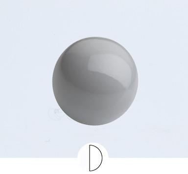 Preciosa 8 mm Nacre Pearl Cabochon