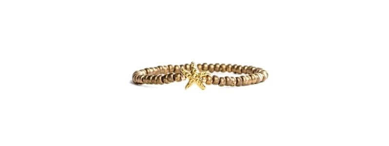 Goldschöne Armbänder Seestern