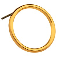 Ohrstecker Rund, 18,5 mm, mit Titanstift, vergoldet