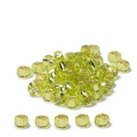 Miyuki Rocailles rund 8/0 (ca. 3 mm), Chartreuse Silver-Lined, ca. 22 gr