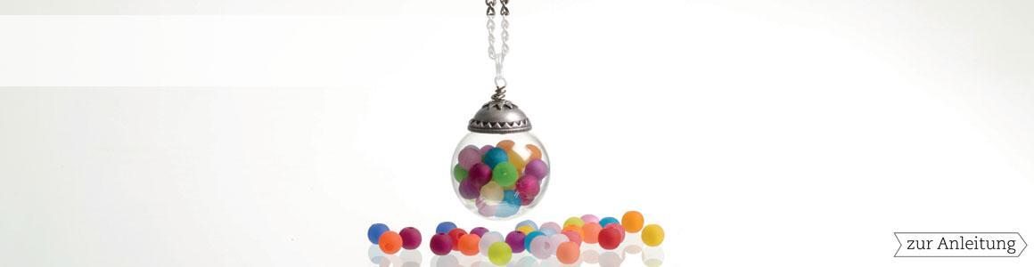 Deckel für Glaskugeln Perlkappen