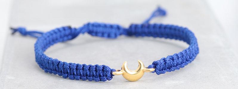 Makramee-Armband Mond