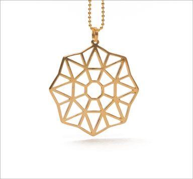 Geometrics-Schmuck mit geometrischen Metallanhängern