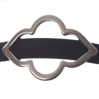 Metallperle Slider / Schiebeperle Orientalisch, versilbert, ca. 47 x 32 mm