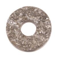 PolarisTendo Cabochon Goldstein, rund, 12 mm, dunkelgrau