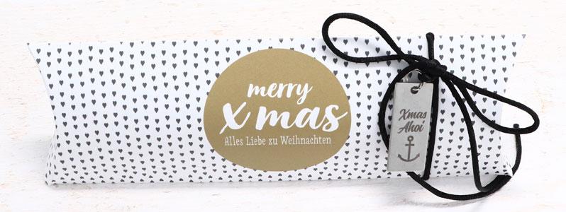 """Weihnachtsverpackung mit Geschenkanhänger """"Xmas Ahoi"""""""