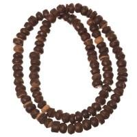 Kokosnussperlen, Rondel, 5 x 5 mm, dunkelbraun, Strang