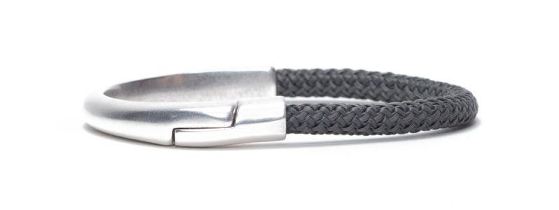 Armband mit Magnetverschluss und Segelseil versilbert
