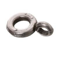 Metallanhänger Anhängerhalter, rund, ca. 8 mm,versilbert