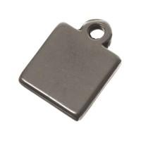 Metallanhänger Quadrat, 11 x 8 mm, versilbert