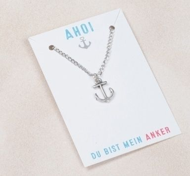 Halskette mit Gliederkette und Ankeranhänger machen