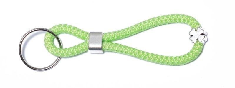 Schlüsselanhänger aus Segelseil Hellgrün