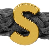 Grip-It Slider Buchstabe S, für Bänder bis 5mm Durchmesser, vergoldet