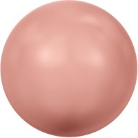 Swarovski Crystal Pearl, rund, 6 mm, rose peach
