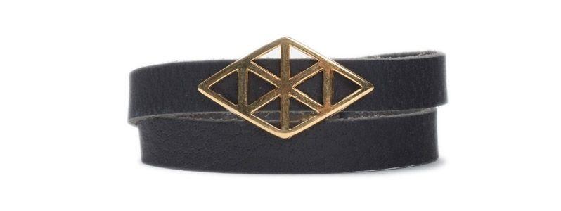 Armband mit Schiebeperlen Geomtrisch Gold