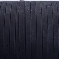 Korkband, flach, Breite 10 mm, Länge 1 m, schwarz