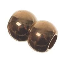 Magnetverschluss, Doppelkugel, 10 x 15 mm, Innen 5 mm, goldfarben