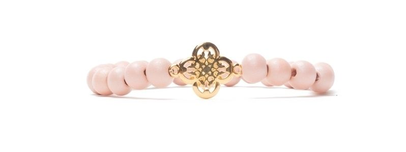 Armband Primrose Pink mit Holzperlen