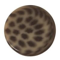 Polaris Cabochon Animalprint Leoprad, rund, flach, 12 mm, golden shadow-schwarz