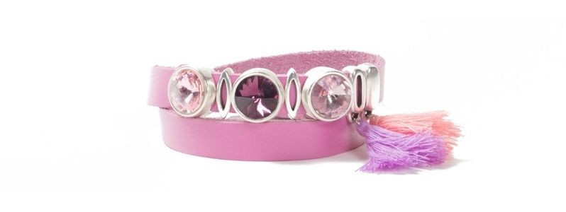 Wickelarmband Slider Stars Pink