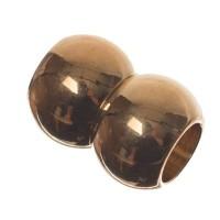 Magnetverschluss, Doppelkugel, 12 x 17 mm, Innen 7 mm, goldfarben