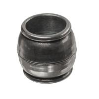 Magnetverschluss für Bänder bis 10 mm, Tonne, 14 x 15 mm, versilbert