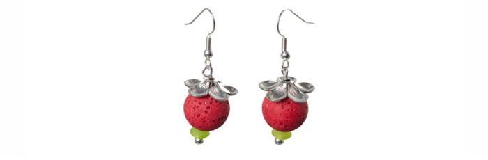 "Ohrringe ""Erdbeerchen"""
