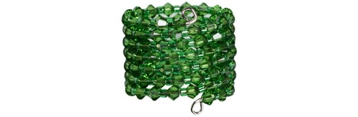 Memory Wire Ring Fern Green