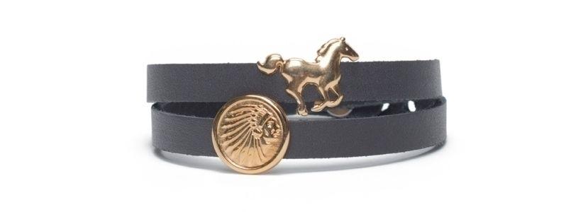 Armband  mit Sliderperlen Wild West Vergoldet