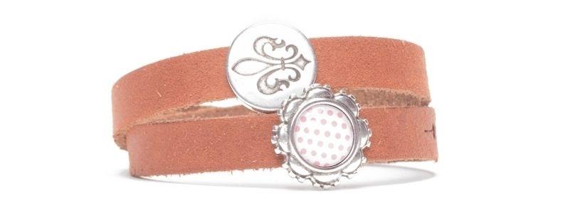 Craft Lederarmband für Slider Perlen Lilie