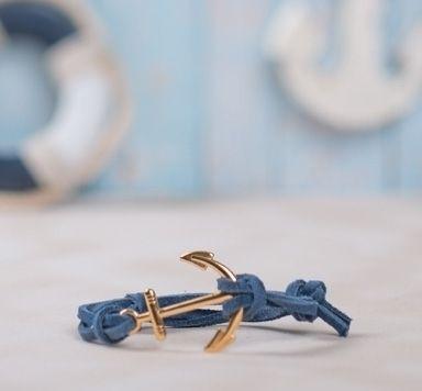 Ankerarmband mit Lederband und Verschiebeknoten machen