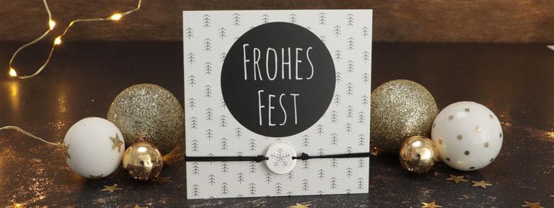 """Weihnachtsarmbänder """"Frohe Fest"""""""