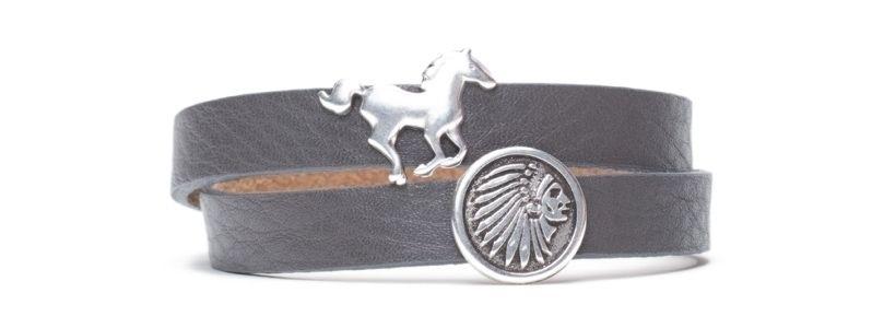 Armband  mit Sliderperlen Wild West versilbert