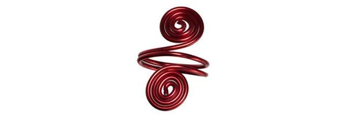 Schnecken Ring Rot